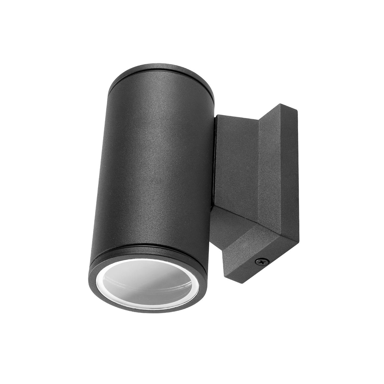 LED Wandlamp IP65 GU10 fitting - wandspot - dimbaar - zwart - rond