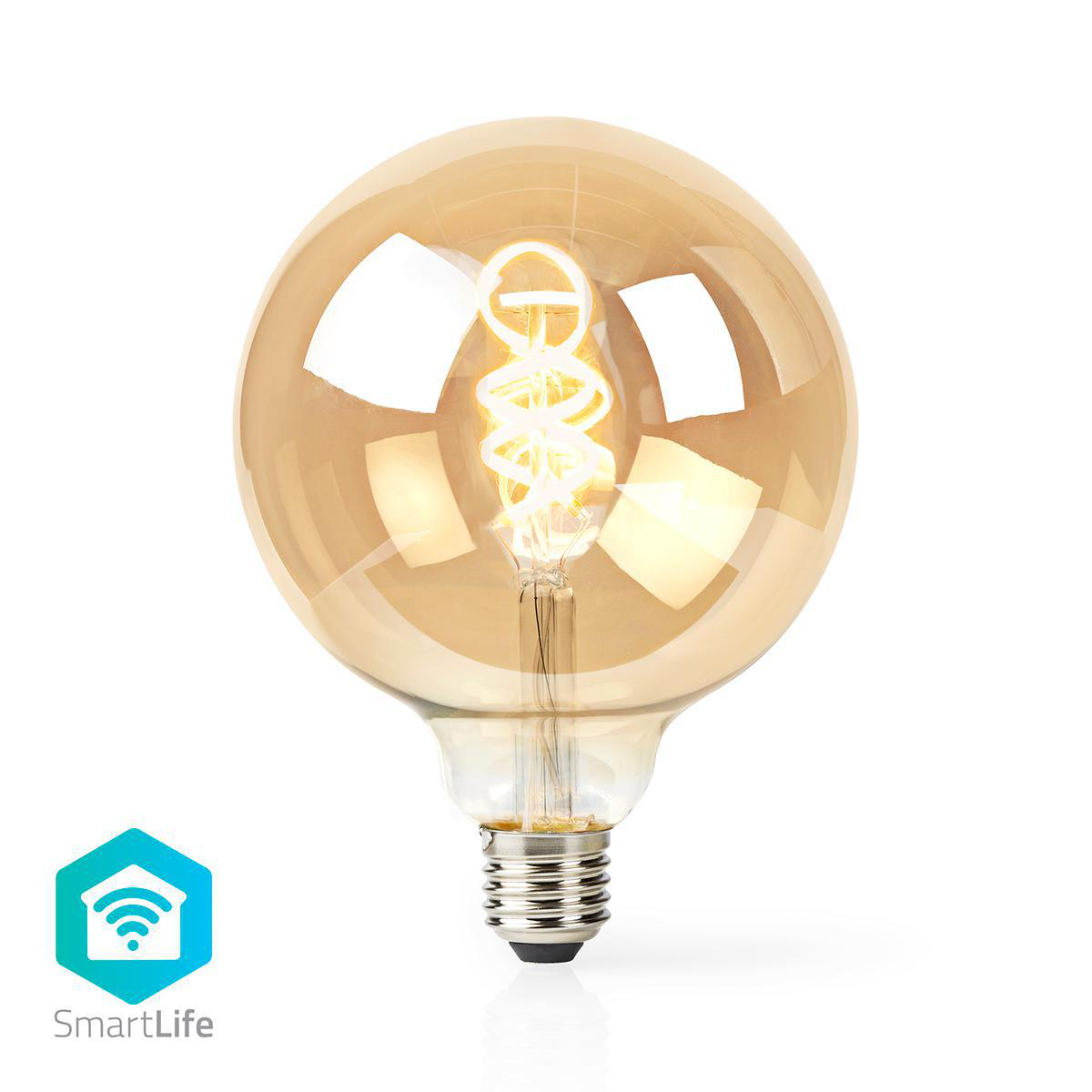 Globe spiraal lamp G125 - 125mm - LED slimme lamp - Amber - dimbaar - app besturing - filament
