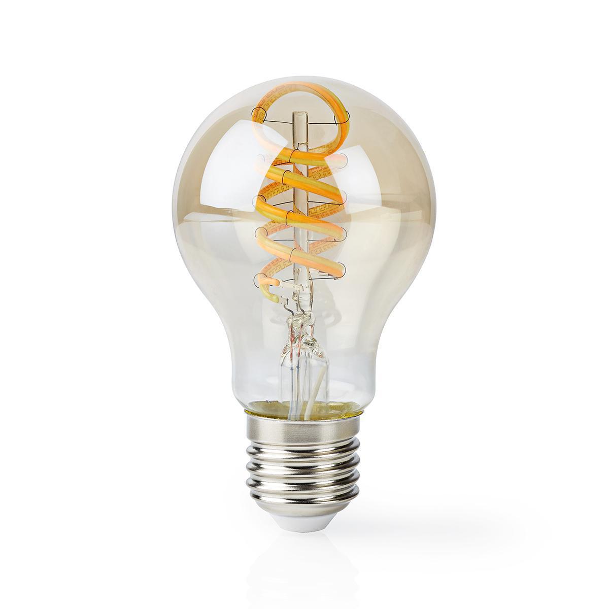 Slimme WiFi LED lamp - in kleur verstelbaar - 1800K warm wit - 6500K daglicht E27 spiraal lamp - dimbaar - app besturing - 5,5W - voorkant