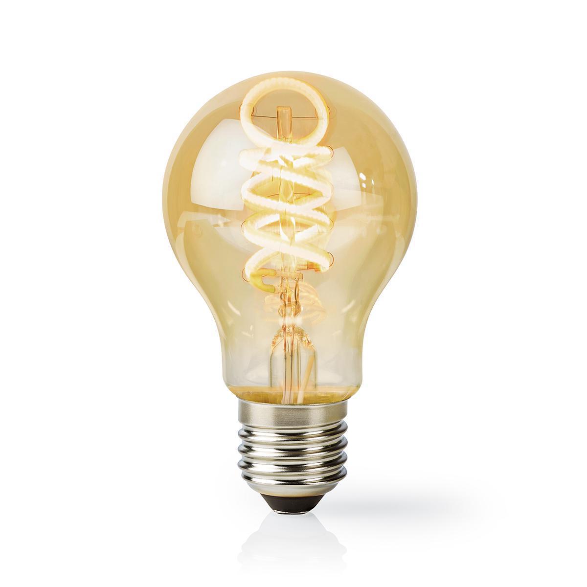 Slimme WiFi LED lamp - in kleur verstelbaar - 1800K warm wit - 6500K daglicht E27 spiraal lamp - dimbaar - app besturing - 5,5W - warm wit