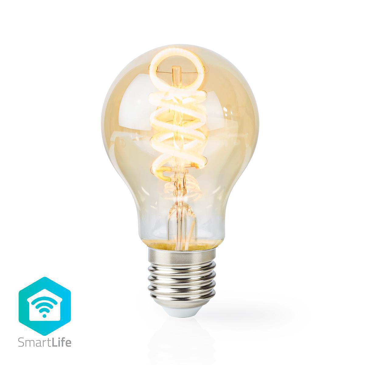 Slimme WiFi LED lamp - in kleur verstelbaar - 1800K warm wit - 6500K daglicht E27 spiraal lamp - dimbaar - app besturing - 5,5W
