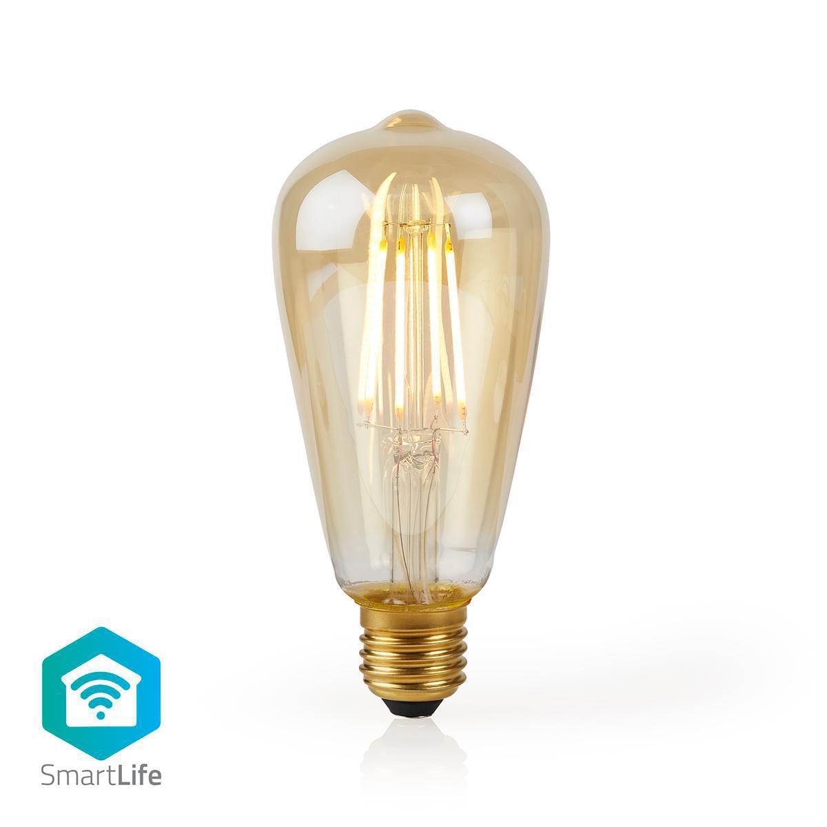 Slimme Wifi Edison filament lamp E27 - 5 watt- warm wit