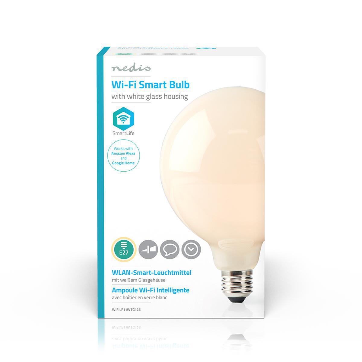 Smart lamp globe Led Lamp 5 Watt 2700K - Warm wit - voorkant verpakking
