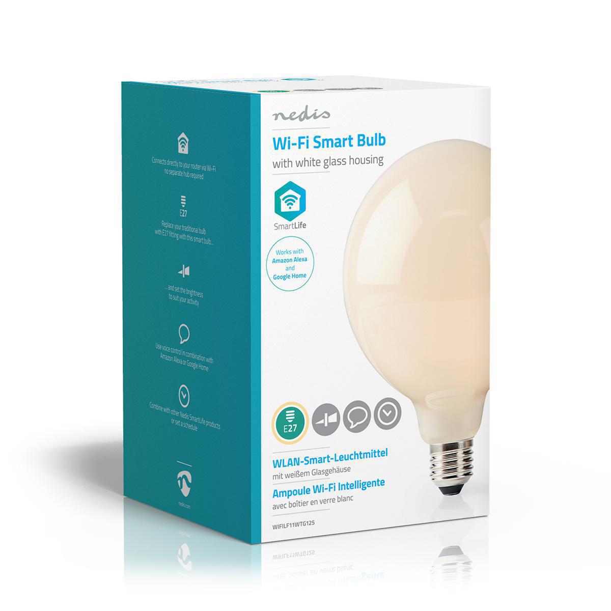 Smart lamp globe Led Lamp 5 Watt 2700K - Warm wit - zijkant verpakking