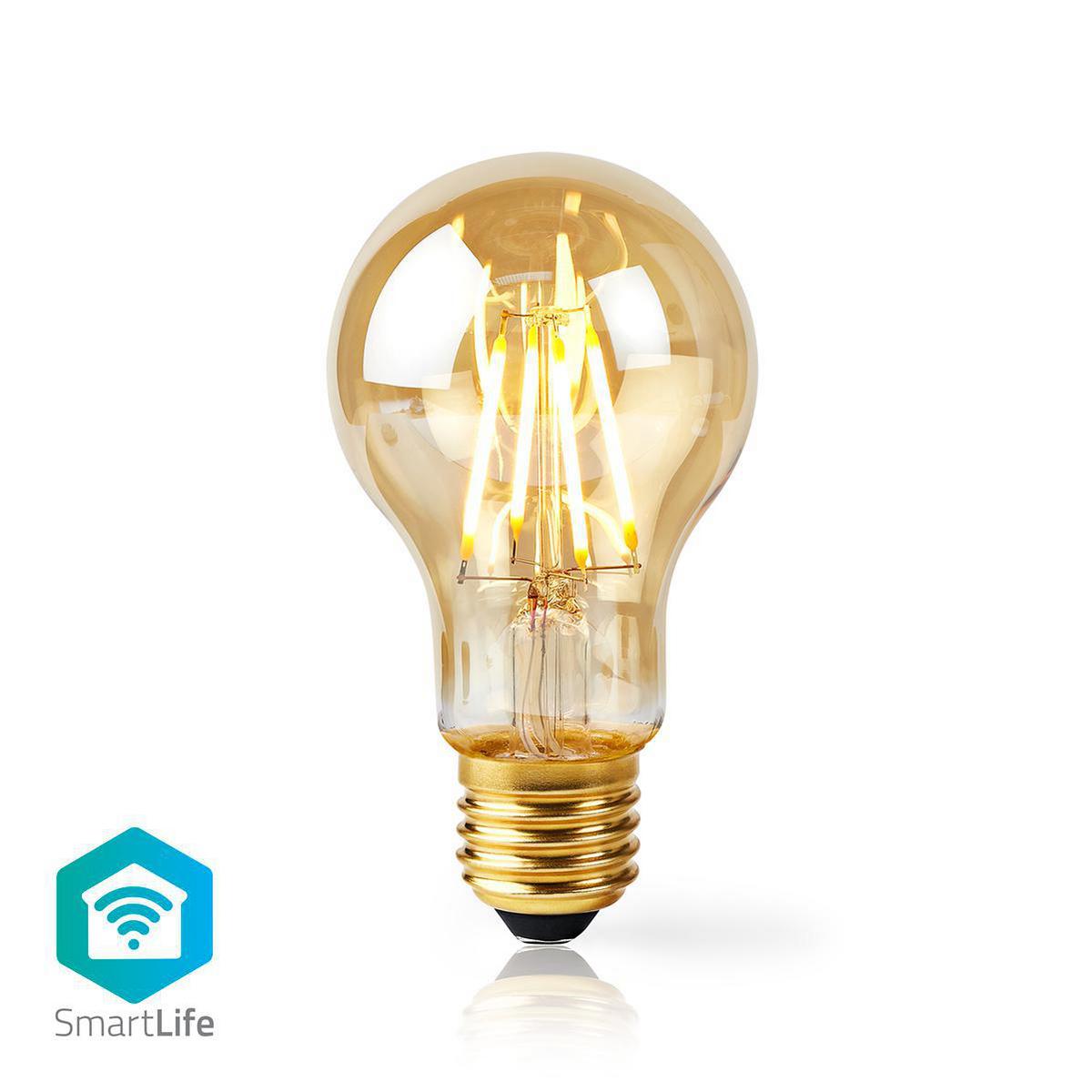 Slimme filament Wifi lamp E27 - 2200K - 5 watt - vooraanzicht