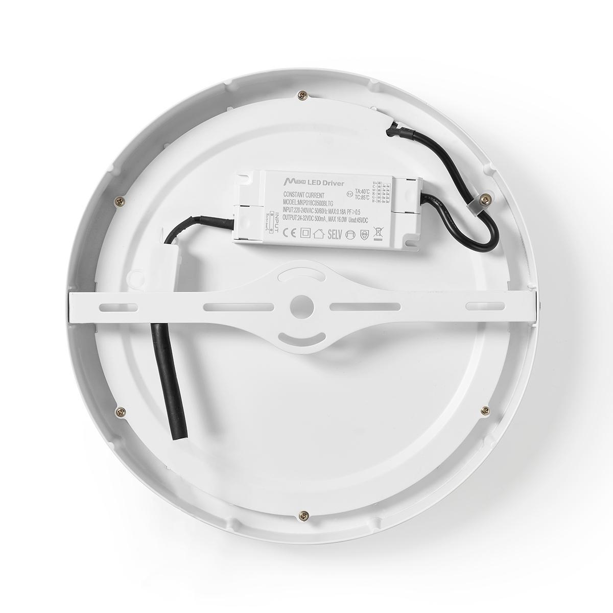 WiFi - Smart LED plafondlamp - 18 watt - 30cm - warm tot koel wit - 18 watt - dimbaar - app besturing - achterkant