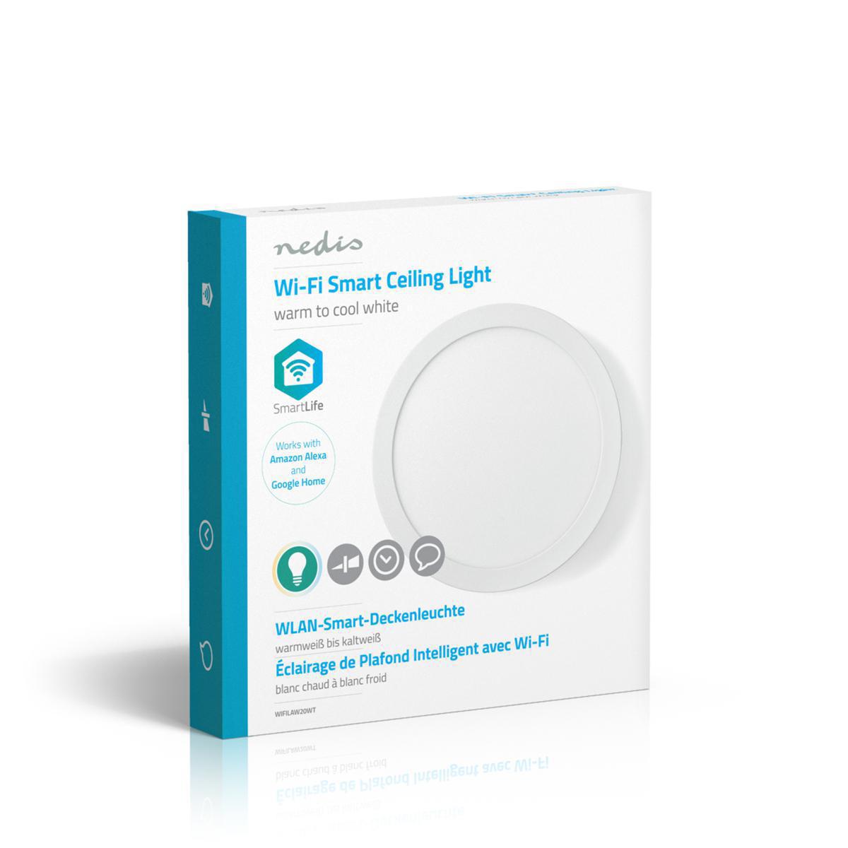 WiFi - Smart LED plafondlamp - 18 watt - 30cm - warm tot koel wit - 18 watt - dimbaar - app besturing - verpakking