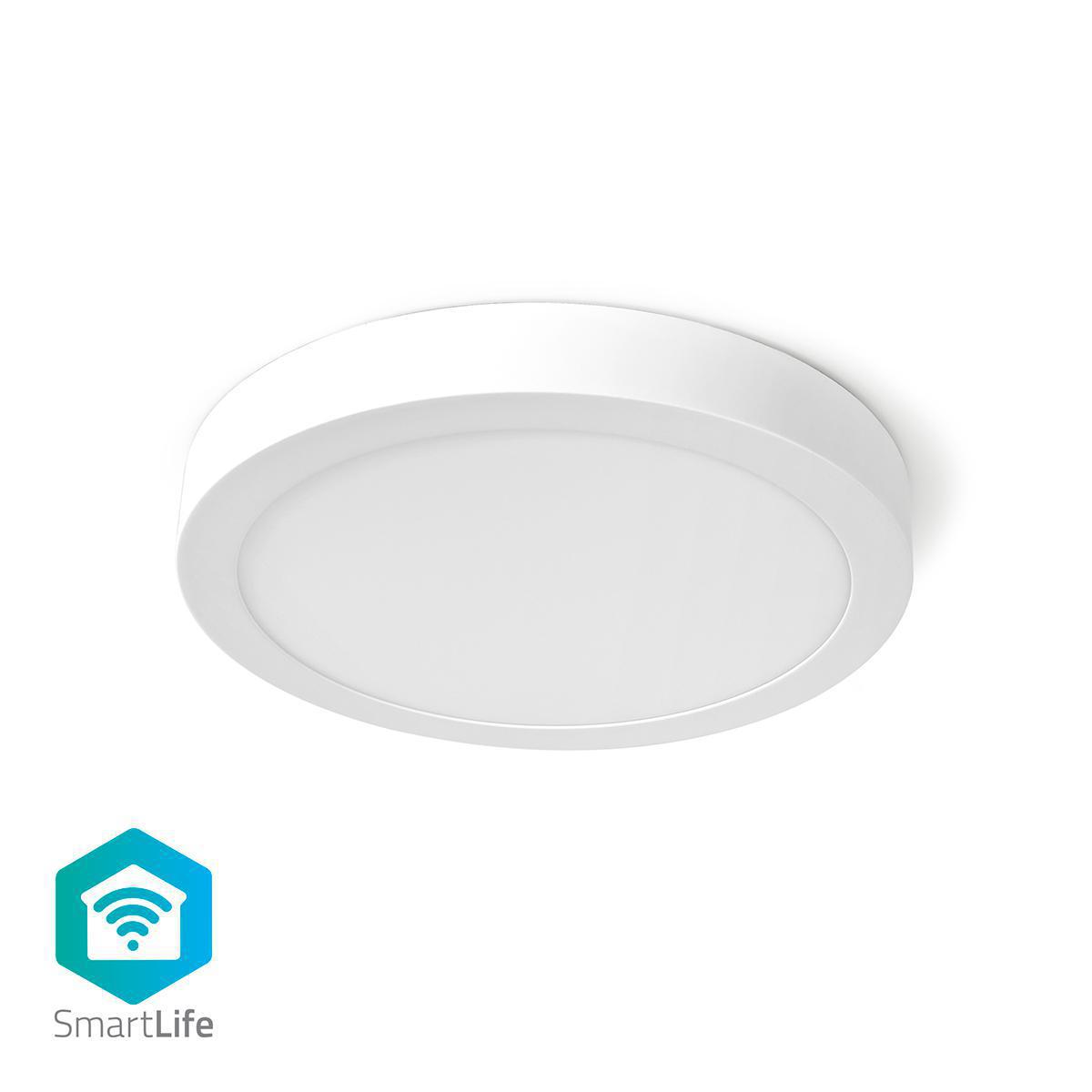 WiFi - Smart LED plafondlamp - 18 watt - 30cm - warm tot koel wit - 18 watt - dimbaar - app besturing - onderkant