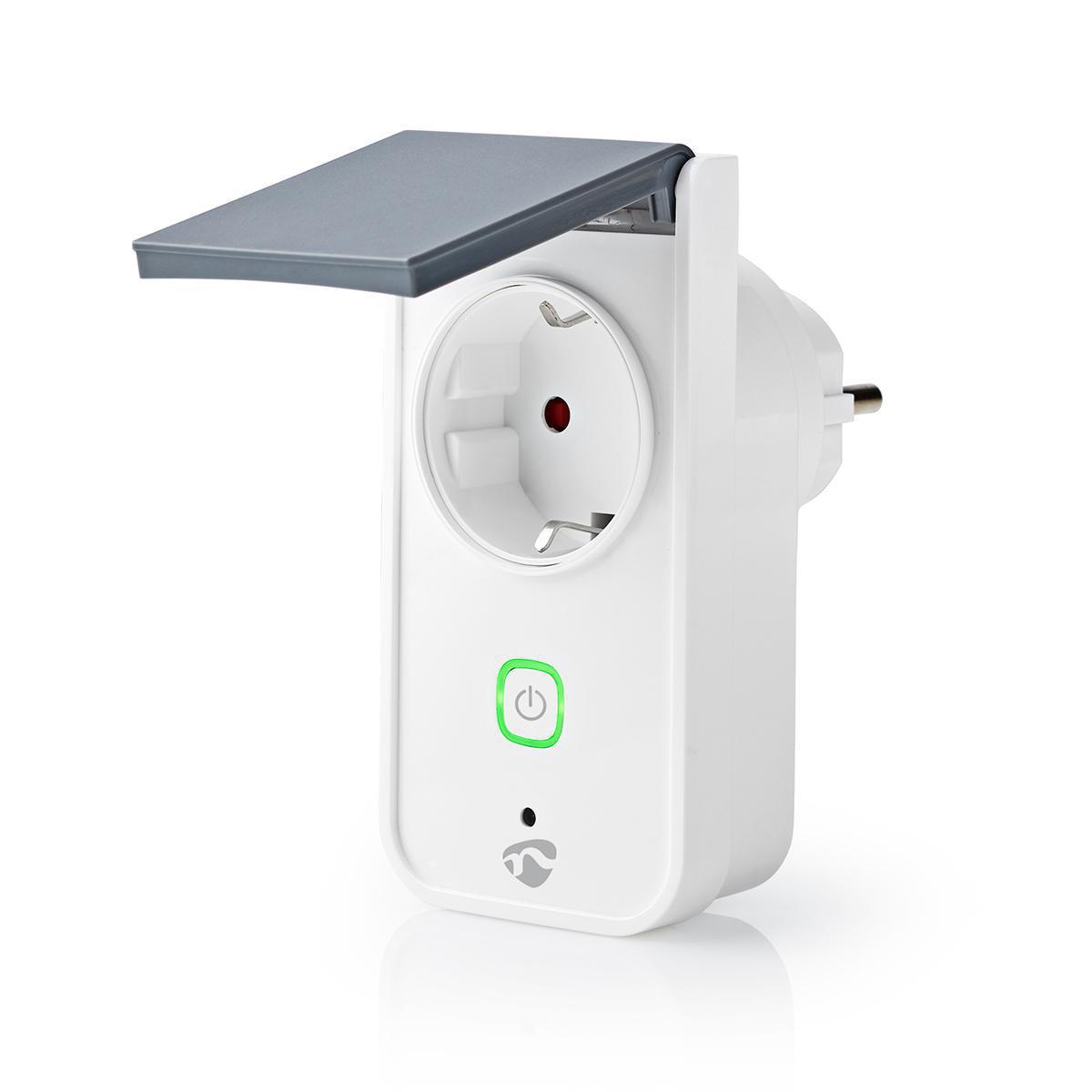 Slimme stekker voor buiten Wi-Fi IP44 spatwaterdicht - zijaanzicht