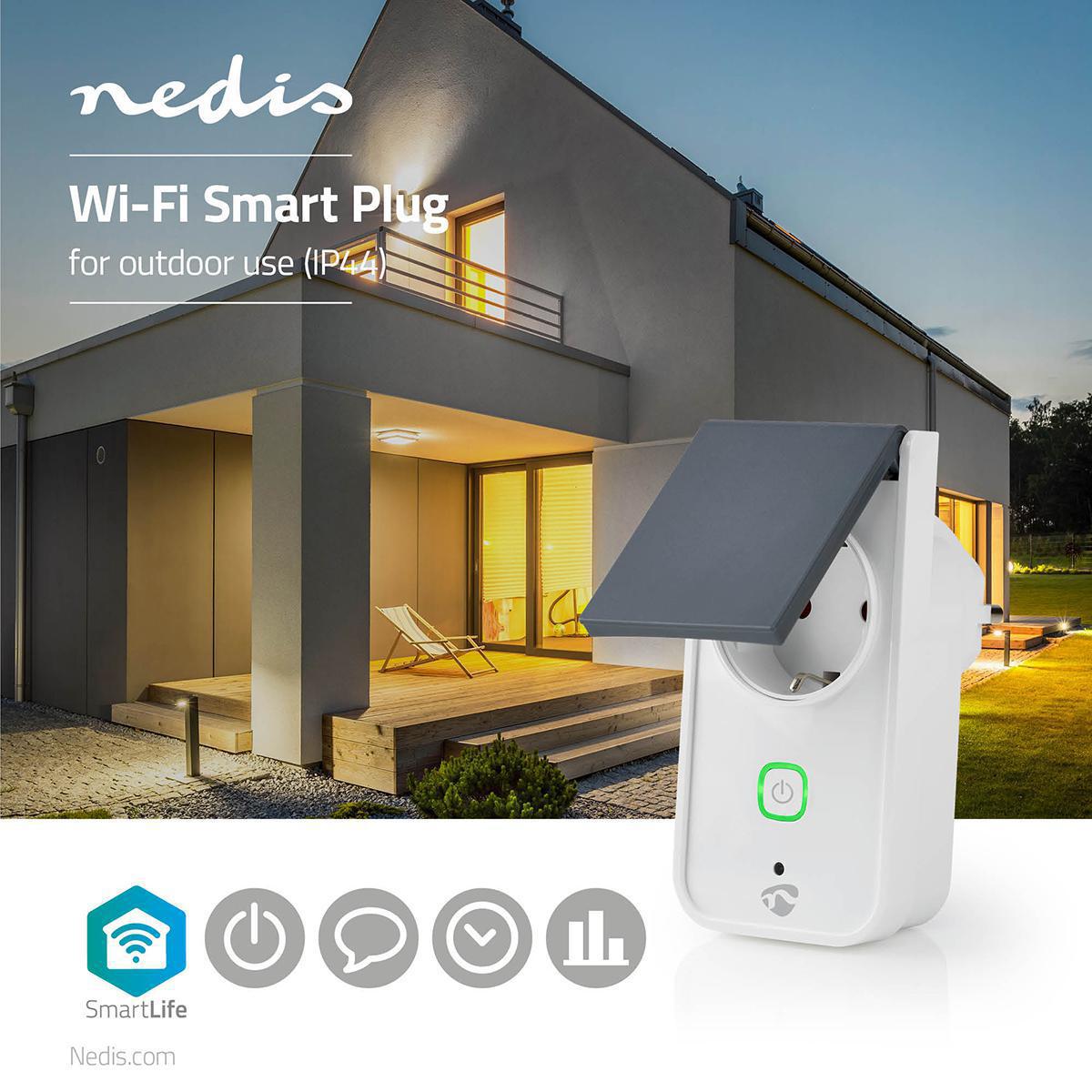 Slimme stekker voor buiten Wi-Fi IP44 spatwaterdicht - sfeerfoto