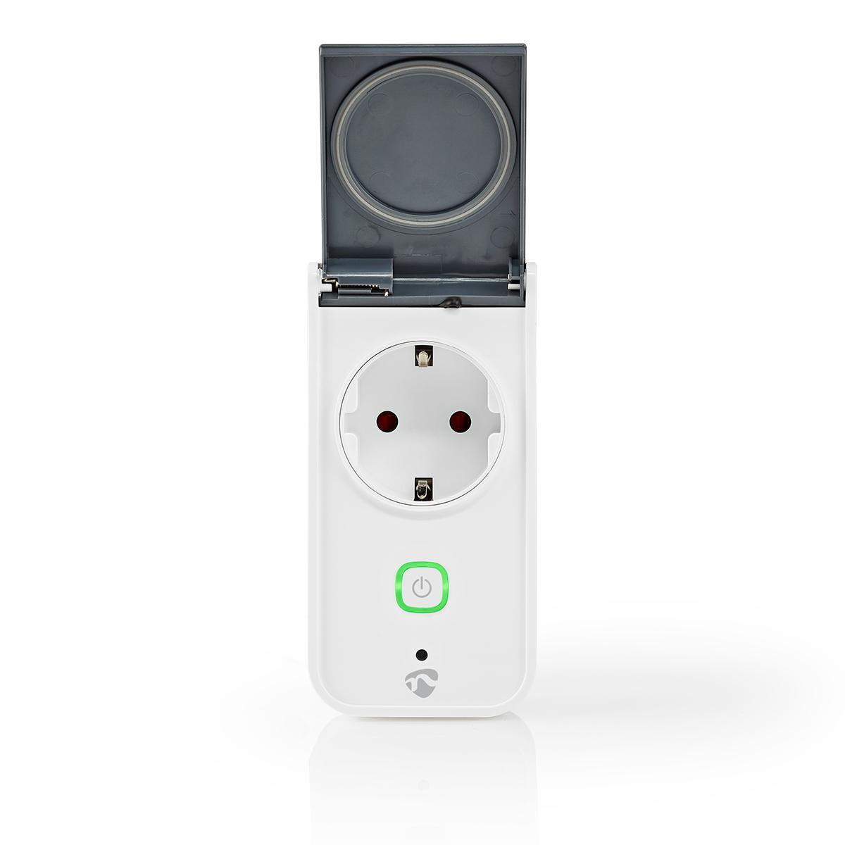 Slimme stekker voor buiten Wi-Fi IP44 spatwaterdicht - klepje stopcontact open