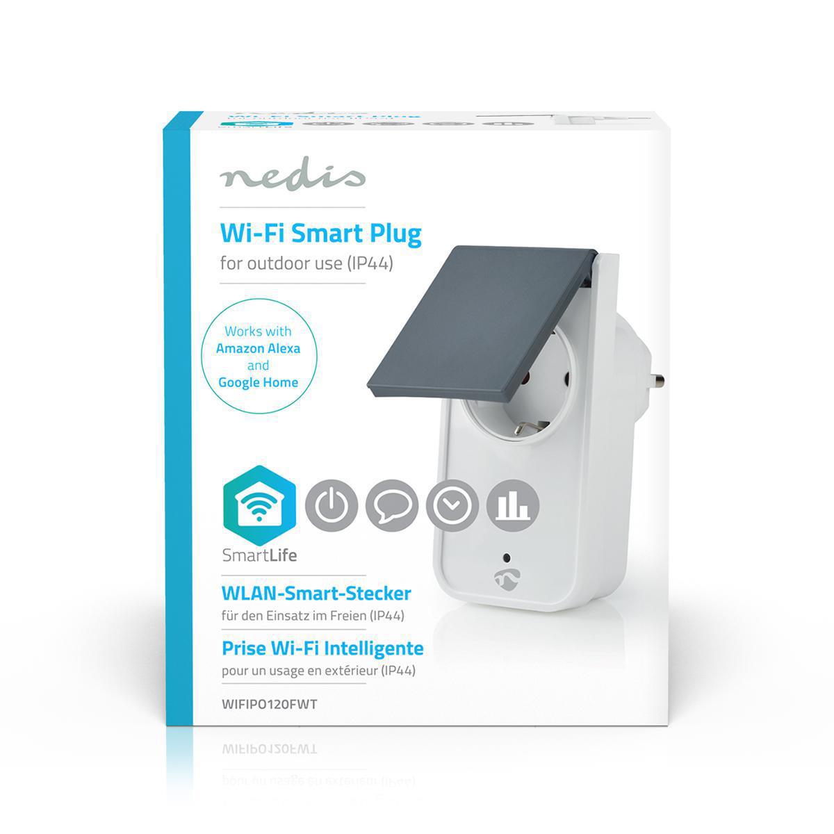 Slimme stekker voor buiten Wi-Fi IP44 spatwaterdicht - verpakking vooraanzicht