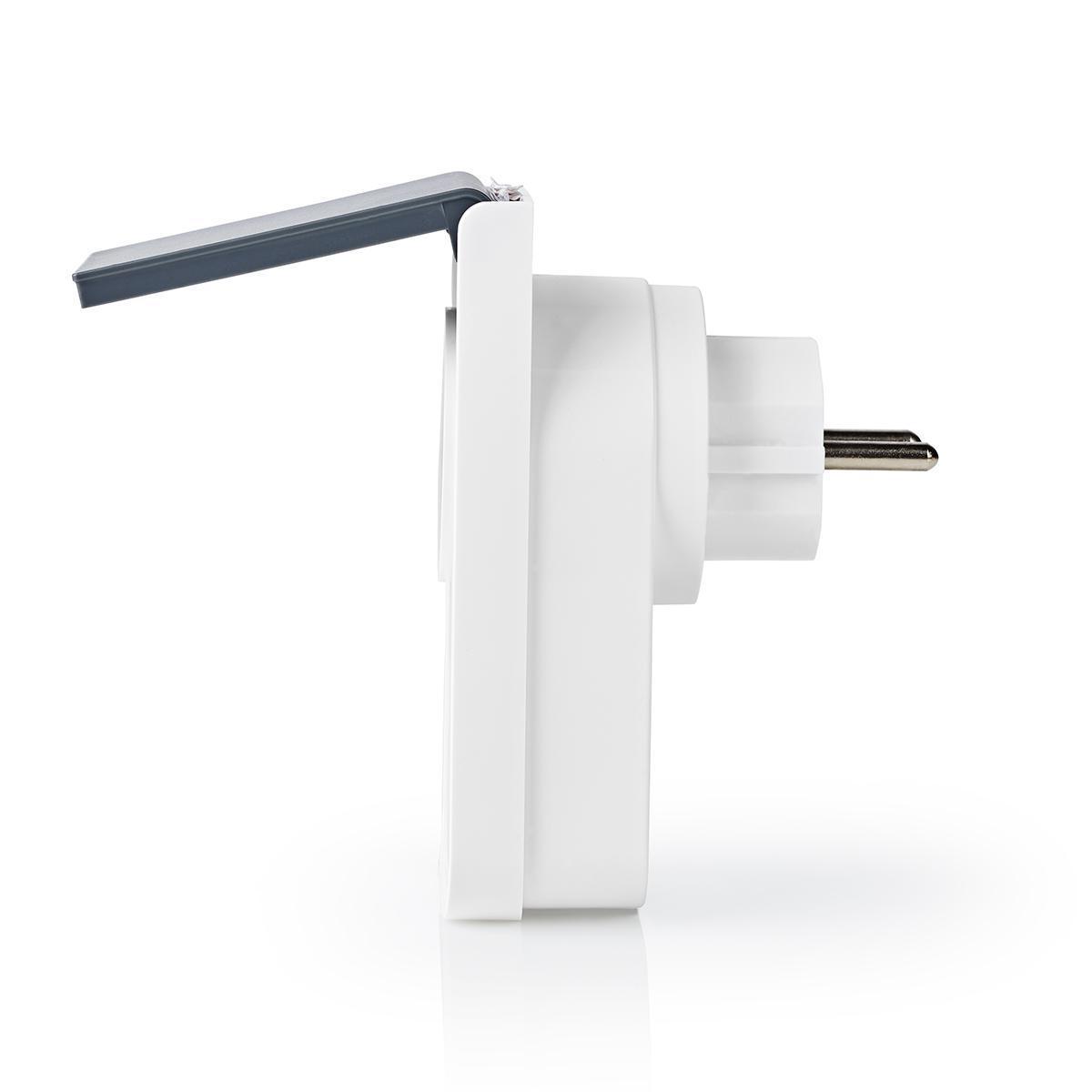 Slimme stekker voor buiten Wi-Fi IP44 spatwaterdicht - zijkant
