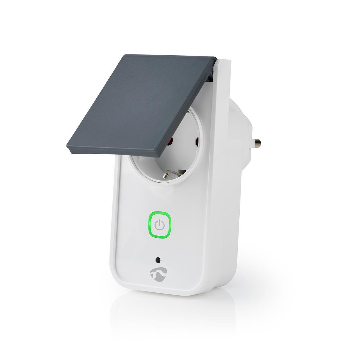 Slimme stekker voor buiten Wi-Fi IP44 spatwaterdicht - zijaanzicht stekker