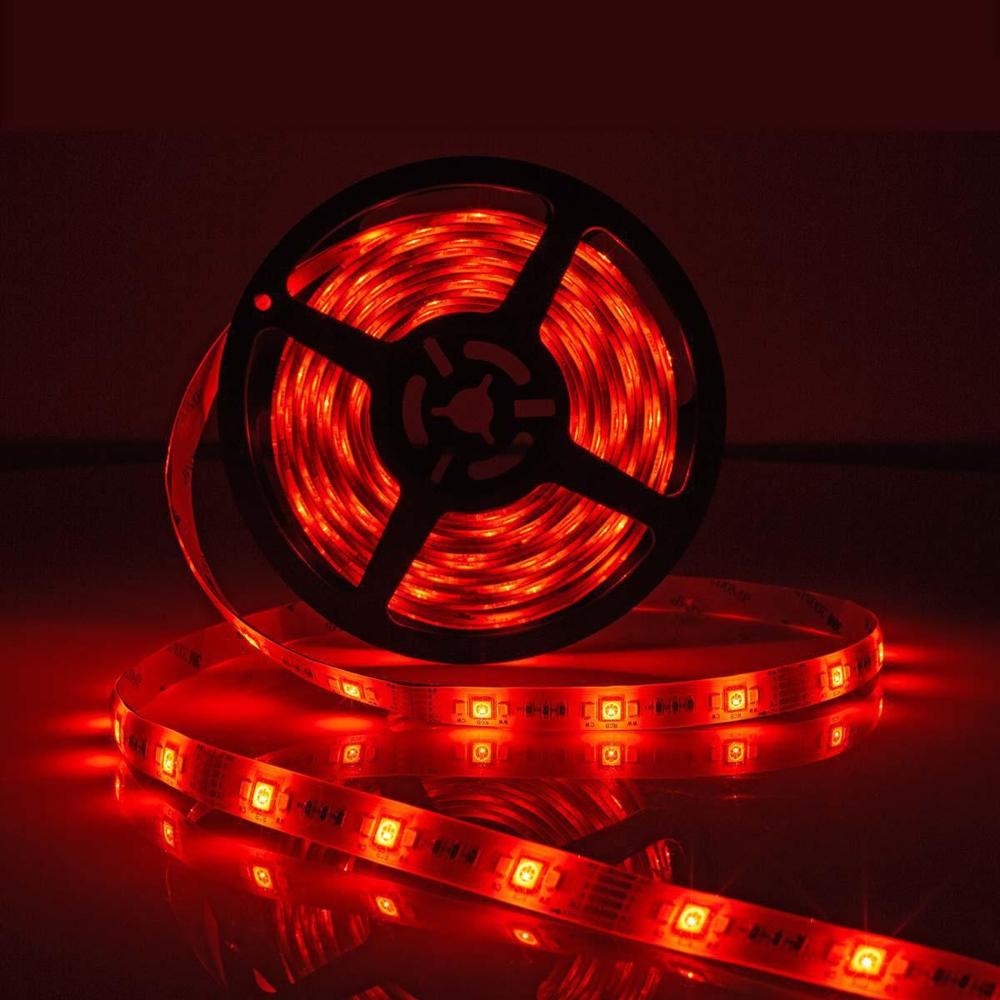 WiFi Slimme LED Strip RGB + CCT - ROOD - APP besturing - dimbaar - 5 meter