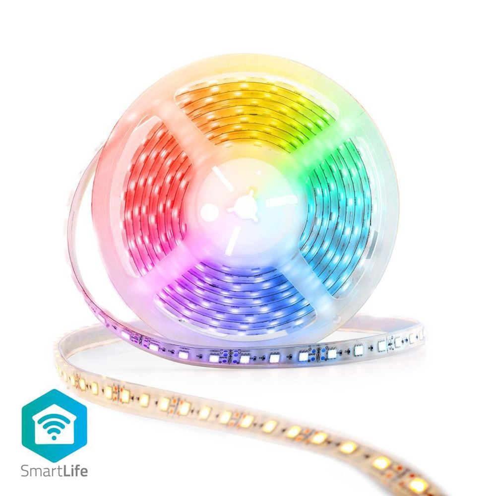 WiFi Slimme LED Strip RGB + CCT - warm wit - daglicht wit - dimbaar - 5 meter - full colour