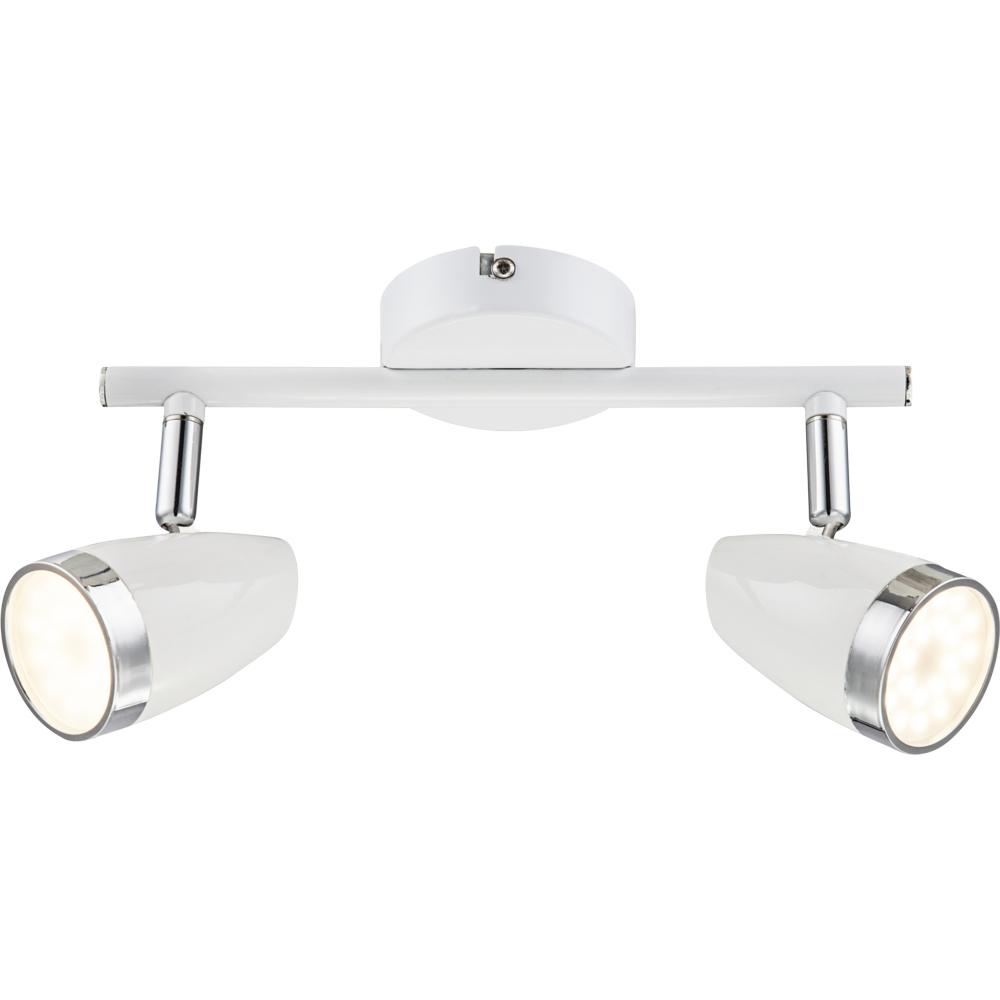 LED plafondlamp wit met lichtbron - vooraanzicht plafondlamp
