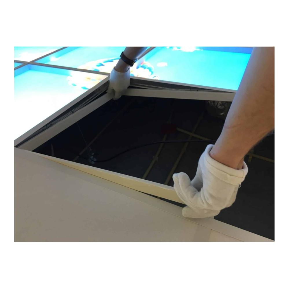 Wolk-bos- fotoprint- 595x595 - verdeeld over 1 paneel - montage - lifter
