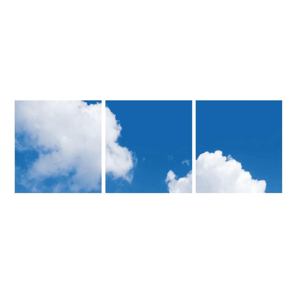 Wolken fotoprint- verdeeld over 3 panelen
