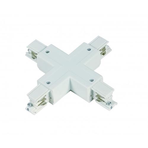 X vorm connector voor witte 3-fase rails