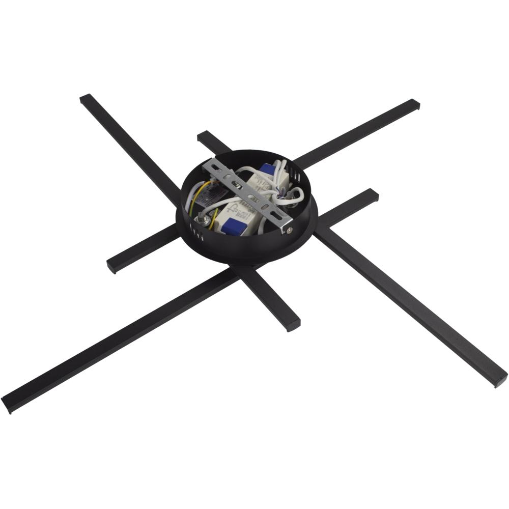 Zwarte plafondlamp modern - 4 staven - draaibaar - 4000K naturel wit - 34 watt - achteraanzicht (2)
