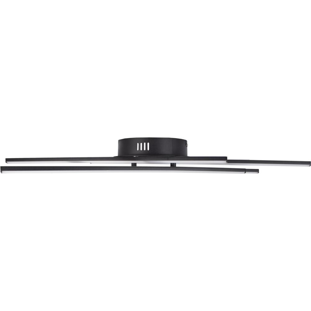 Zwarte plafondlamp modern - 4 staven - draaibaar - 4000K naturel wit - 34 watt - zijaanzicht
