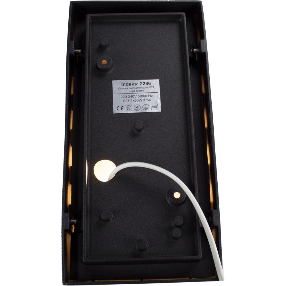 Wandlamp buiten IP54 zwart E27 fitting - achterkant