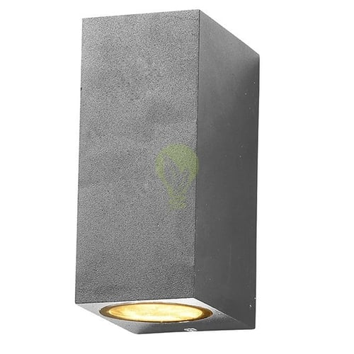 LED Wandlamp buiten up & down 2x GU10 fitting - Zilver
