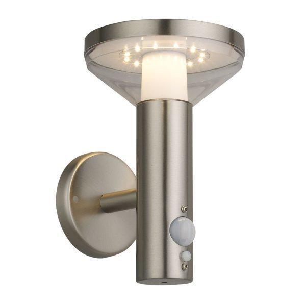 Ronde solar wandlamp met sensor - 3000K warm wit