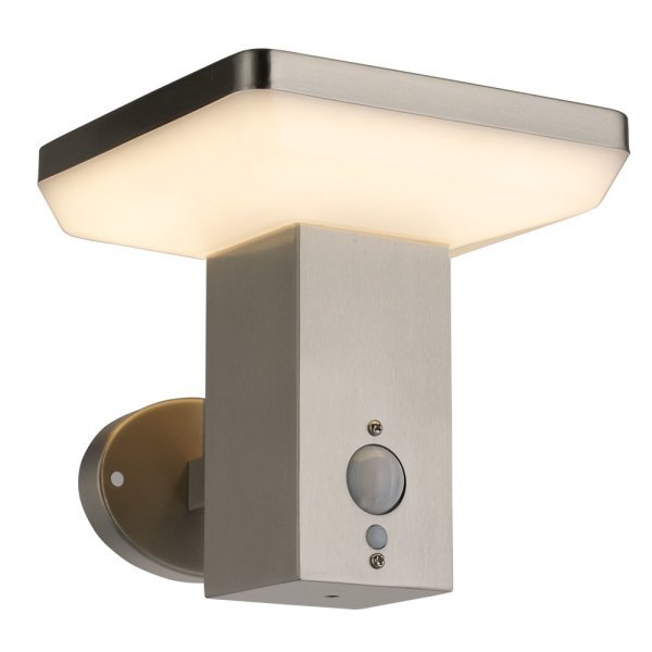 solar wandlamp met sensor vierkant - 3000K warm wit