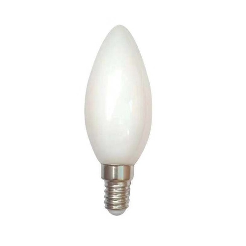 Filament kaarslamp milky C35 2100K extra warm wit