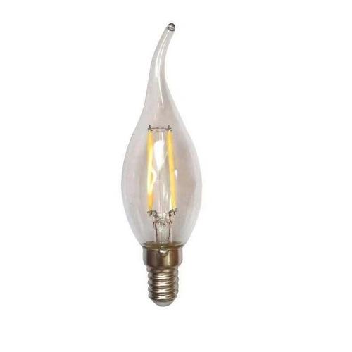 Dimbare filament kaarslamp 1,5Watt kleine fitting met tip