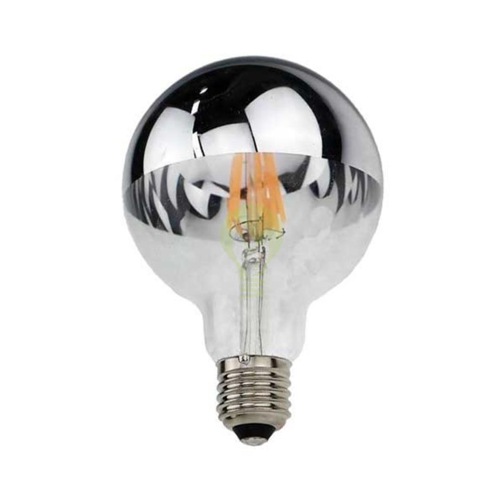 LED Kopspiegel Filament lamp 7 watt grote fitting E27 G95 2700K Warm wit