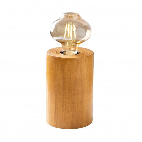 Tafellamp hout E27 fitting - vooraanzicht