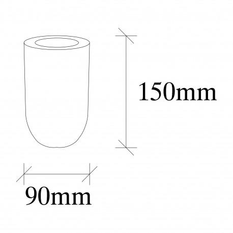 Tafellamp hout osaka E27 fitting - afmetingen