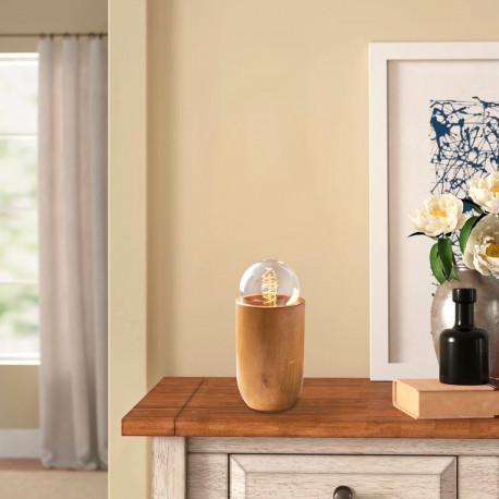 Tafellamp hout osaka E27 fitting - sfeerfoto