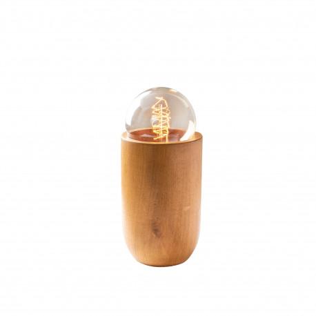 Tafellamp hout osaka E27 fitting - vooraanzicht