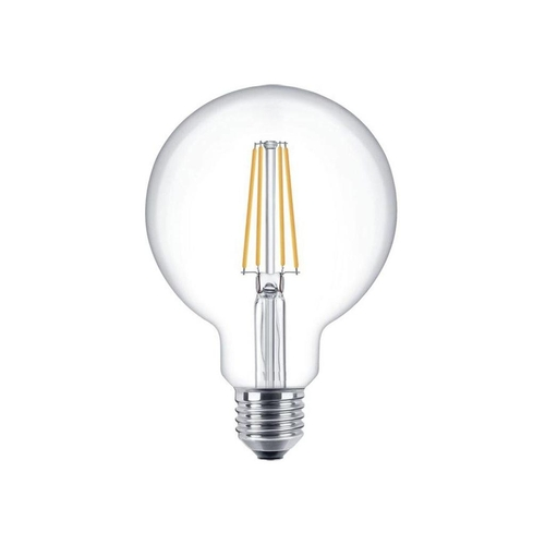 LED Dimbare XL globe lamp 125mm 4 Watt grote fitting E27 2100K Extra warm wit - dimbare lamp