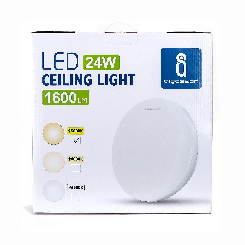 LED Plafondlamp rond wit - Flatline - 24W - 3000K warm wit