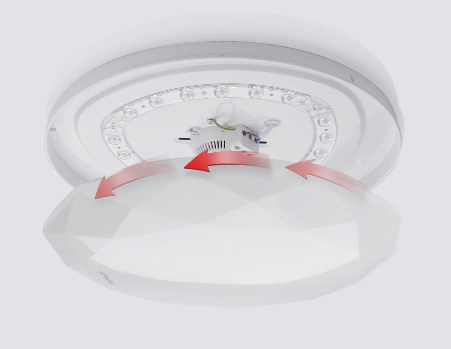 LED Plafondlamp rond diamond - 12 watt - 20 watt - bevestiging