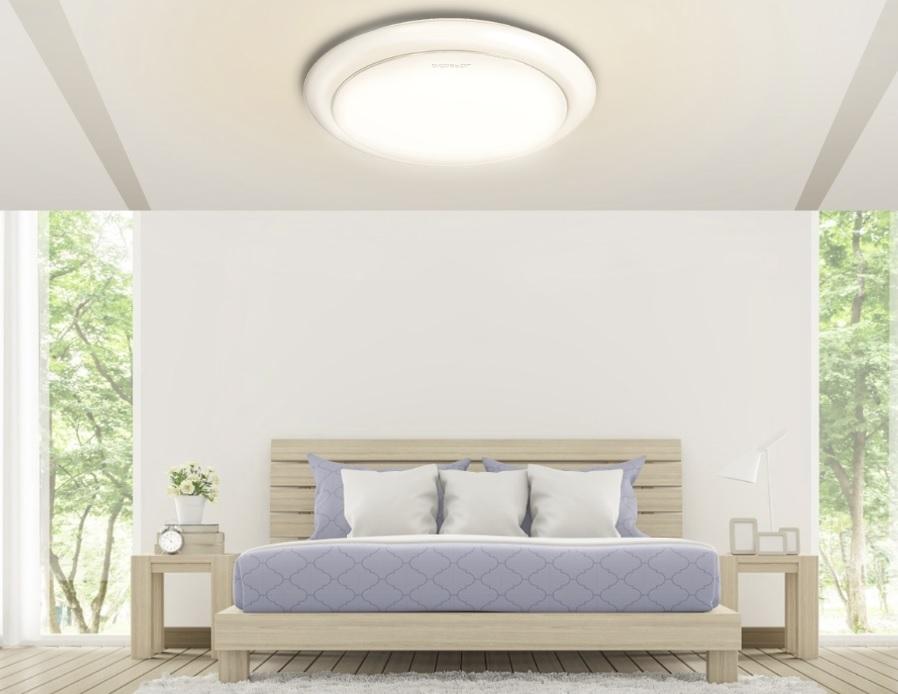 LED Plafond / ceiling lamp rond wit 12W - 20W - 24W - sfeerfoto