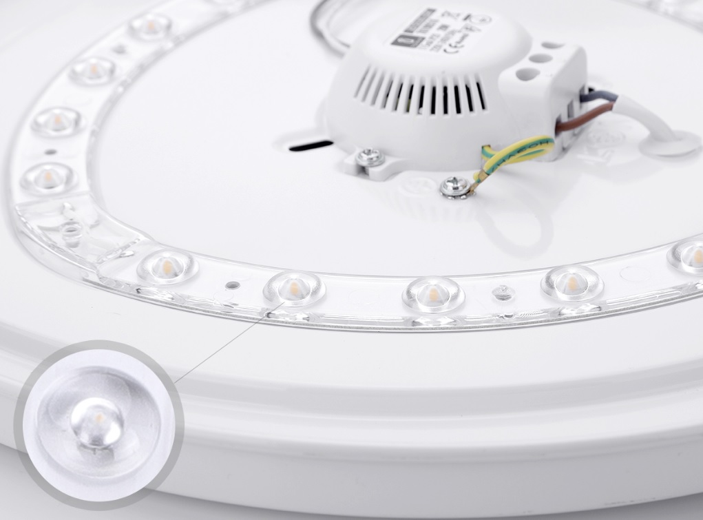 LED Plafond / ceiling lamp rond wit 12W - 20W - 24W - LED chips