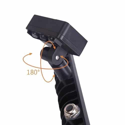 led schijnwerper - bouwlamp - met sensor - 10 watt - zwart - 4000K naturel wit