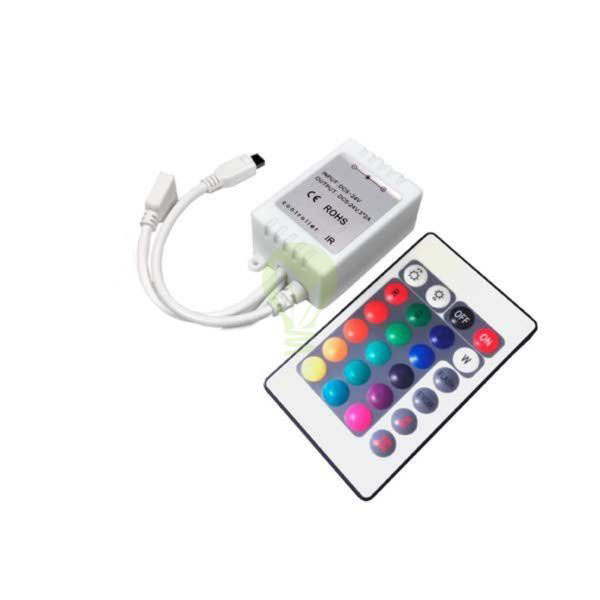 RGB Led Strip 15 knops afstandsbediening