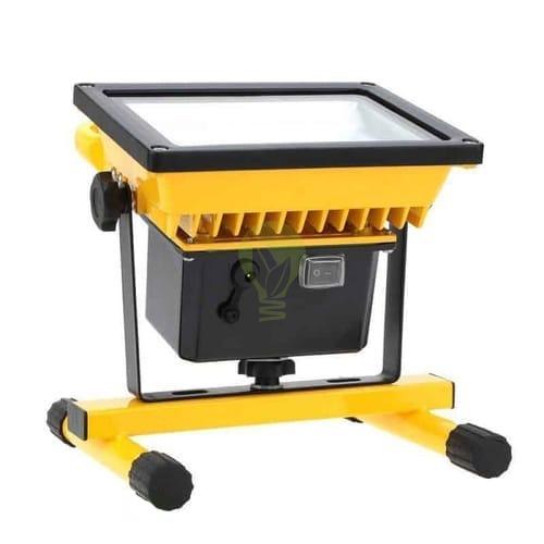 led bouwlamp op accu 20W en 30W - onderkant
