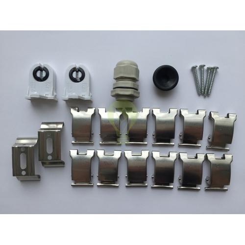 materialen / benodigdheden waterdichte tl armatuur ip65