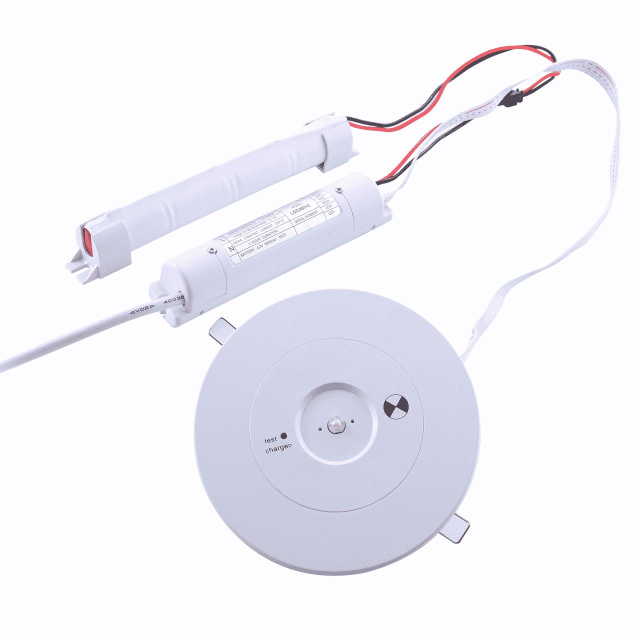 noodverlichting spot- 3 watt - inbouw - wit - rond - 6000K
