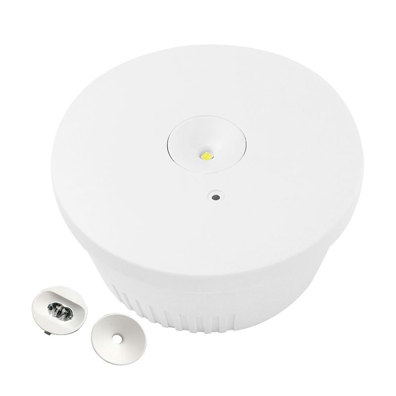 noodverlichting spot - 3 watt - wit - 6000K- inbouw - opbouw - brede lens - voorzicht