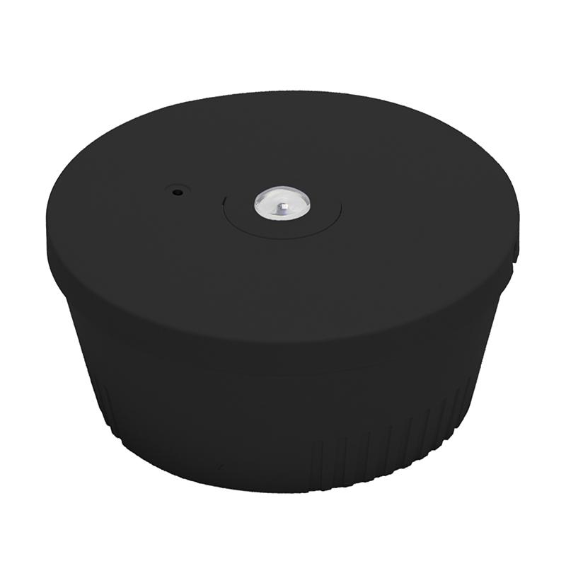 noodverlichting spot - zwart - 3 watt- 6000k- brede lens - voorzicht- inbouw - opbouw