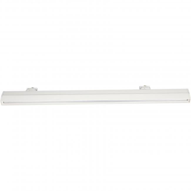 langwerpige 3-fase railspot 120cm wit - zijkant